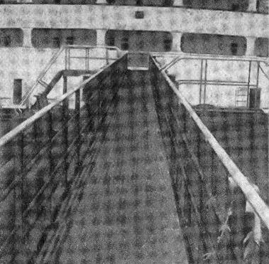 Abb. 5 Die vordere Laufbrücke von der Back her gesehen