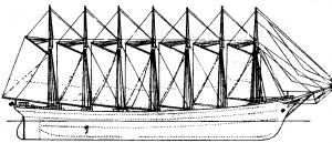 Abb. 3 Siebenmastschoner Thomas W. Lawson