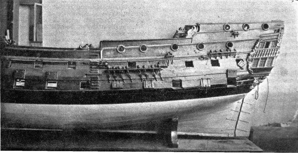 Abb. 3 Rumpfseitenansicht des Modells, Heckteil