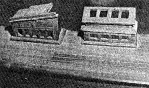 Abb. IV-6 Halbdeck, Oberlicht und Niedergang zur 1. Kl. Kajüte am Theone-Modell aus dem Focke-Museum, Bremen.