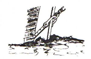 Abb. V-4 Wasserstag-Befestigung am Steven