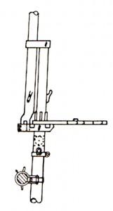 Abb. V-6 Marsstenge-Top mit Obermarsrah-Querschnitt und Saling