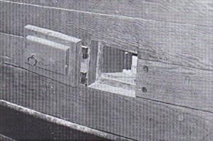 Abb. 5: Eine Lüftungspforte des ENDEAVOUR Nachbaus. Photo B. Haddock