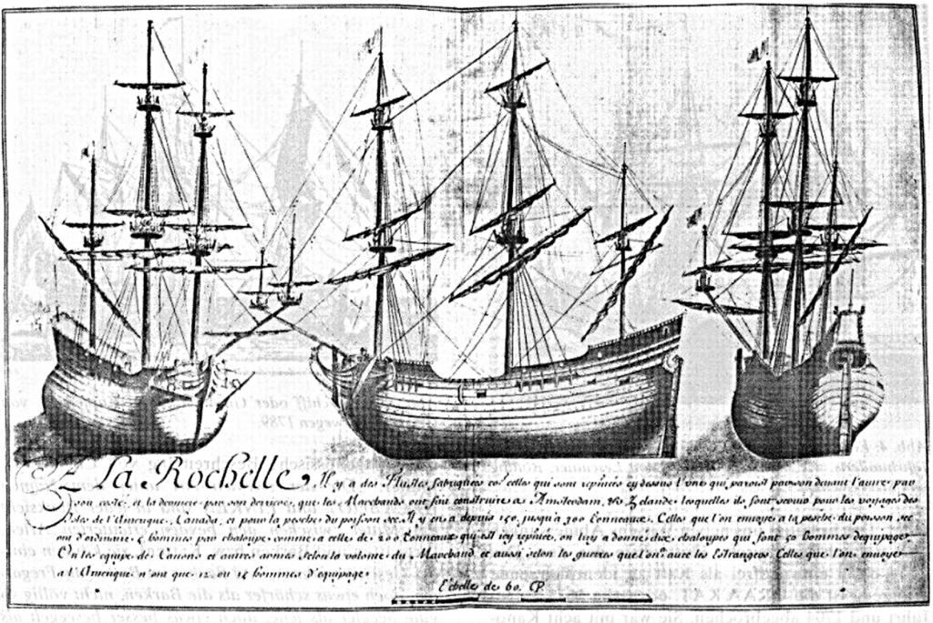Abb 3: Französische Fleute war von 200 Tonnen und in La Röchelte registriert.