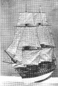 Abb. 2: Französisches Schiff LE PROTECTEUR (E. Paris. Souvenirs de Marine 1882).