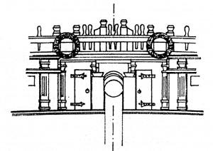 Abb. 12: Der innere Teil des Schottes vor der Back
