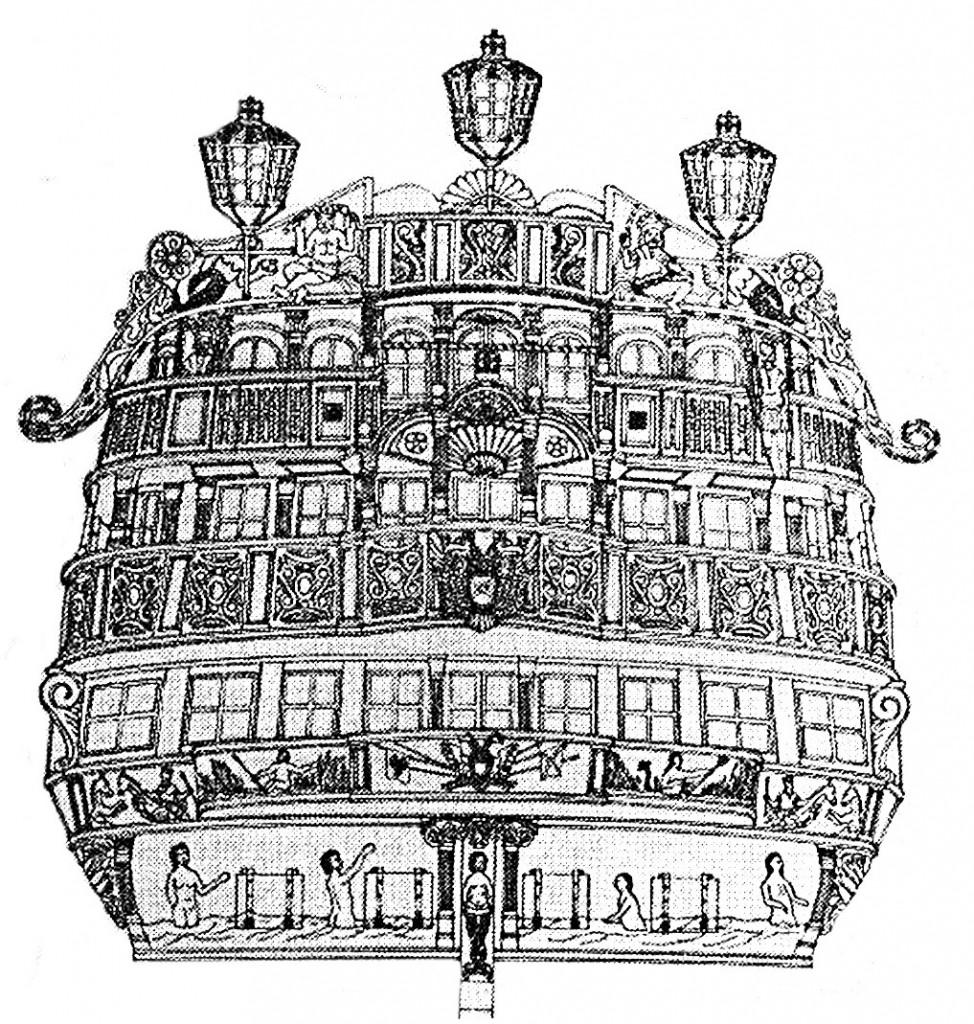 Abb. 9: Der Spiegel, rekonstruiert entsprechend der Restaurierungsnotizen, Skizzen und Photos